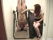 Breakfast For A Slave Haha Guys Gets Handjob Whilst Upside Down